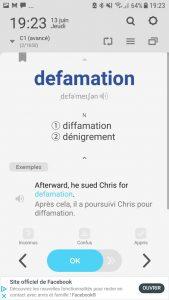 Wordbit affichage du mot en anglais